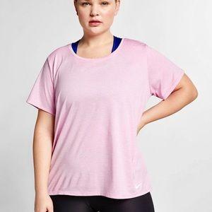 Nike Plus Size Pink Dri Short Sleeve Legend Shirt